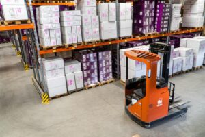 forklift in warehouse inventory