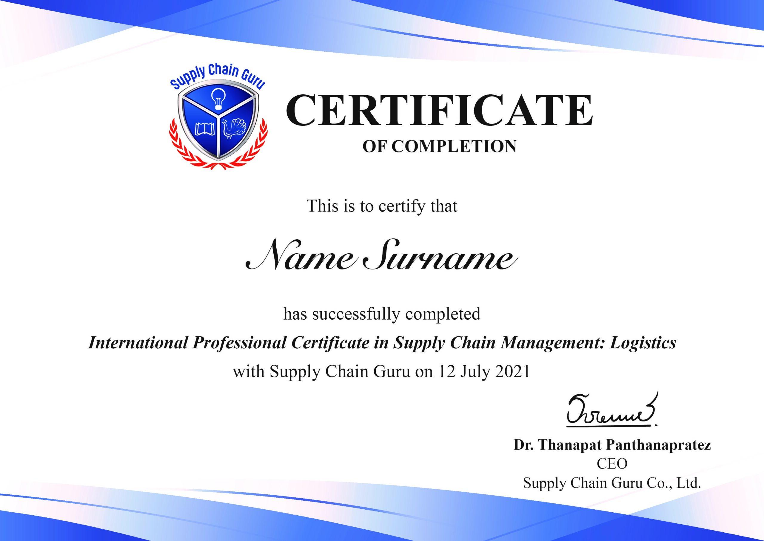 International Professional Certificate in Supply Chain Management_Logistics-min
