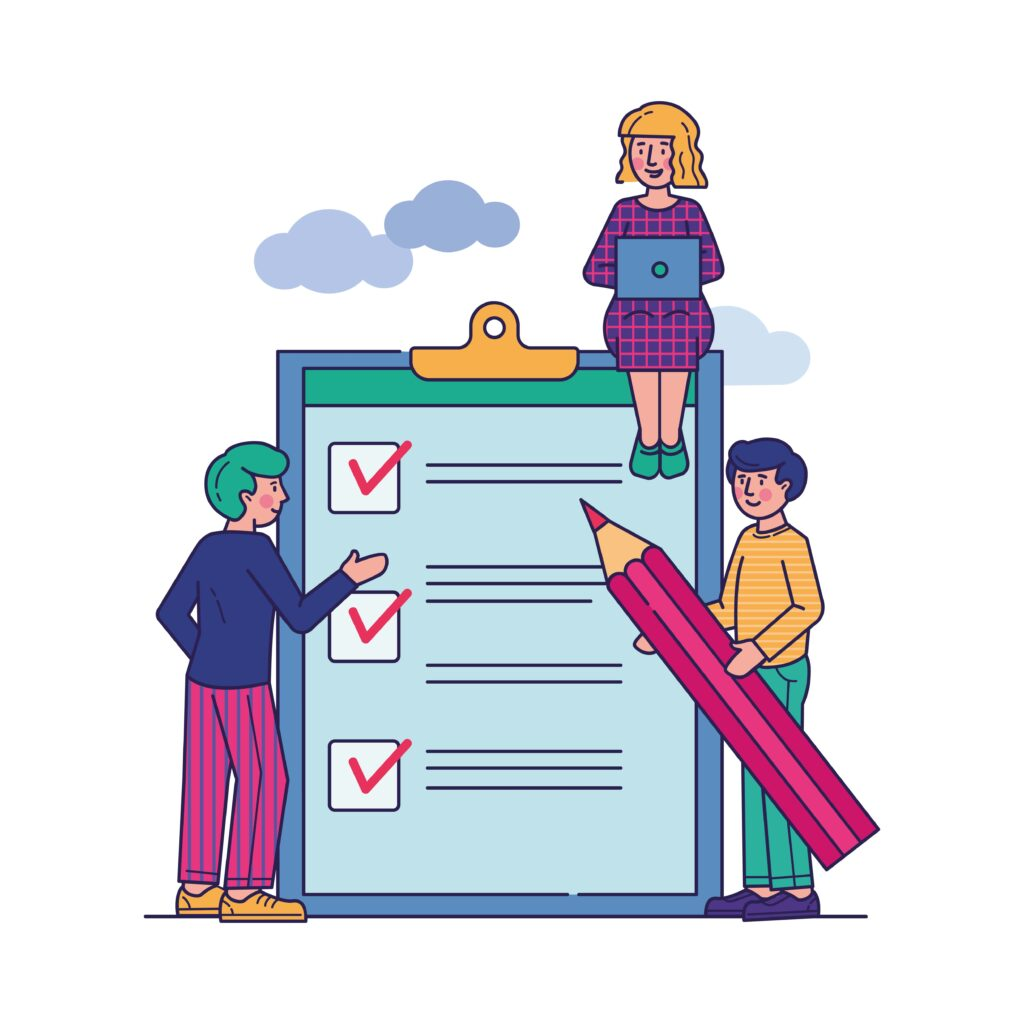 business-people-stand-clipboard-with-checklist